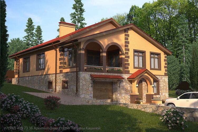 Дом с гаражом в цоколе.  пос. Николин ключ