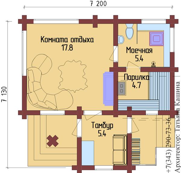 дом баня 7х7 проекты
