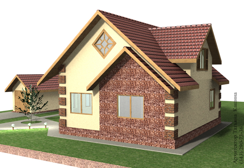 Проекта дома с мансардой