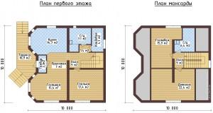 Дом 9 на 9 метров.  Другие проекты загородных домов с мансардой.  Дом для небольшого участка.