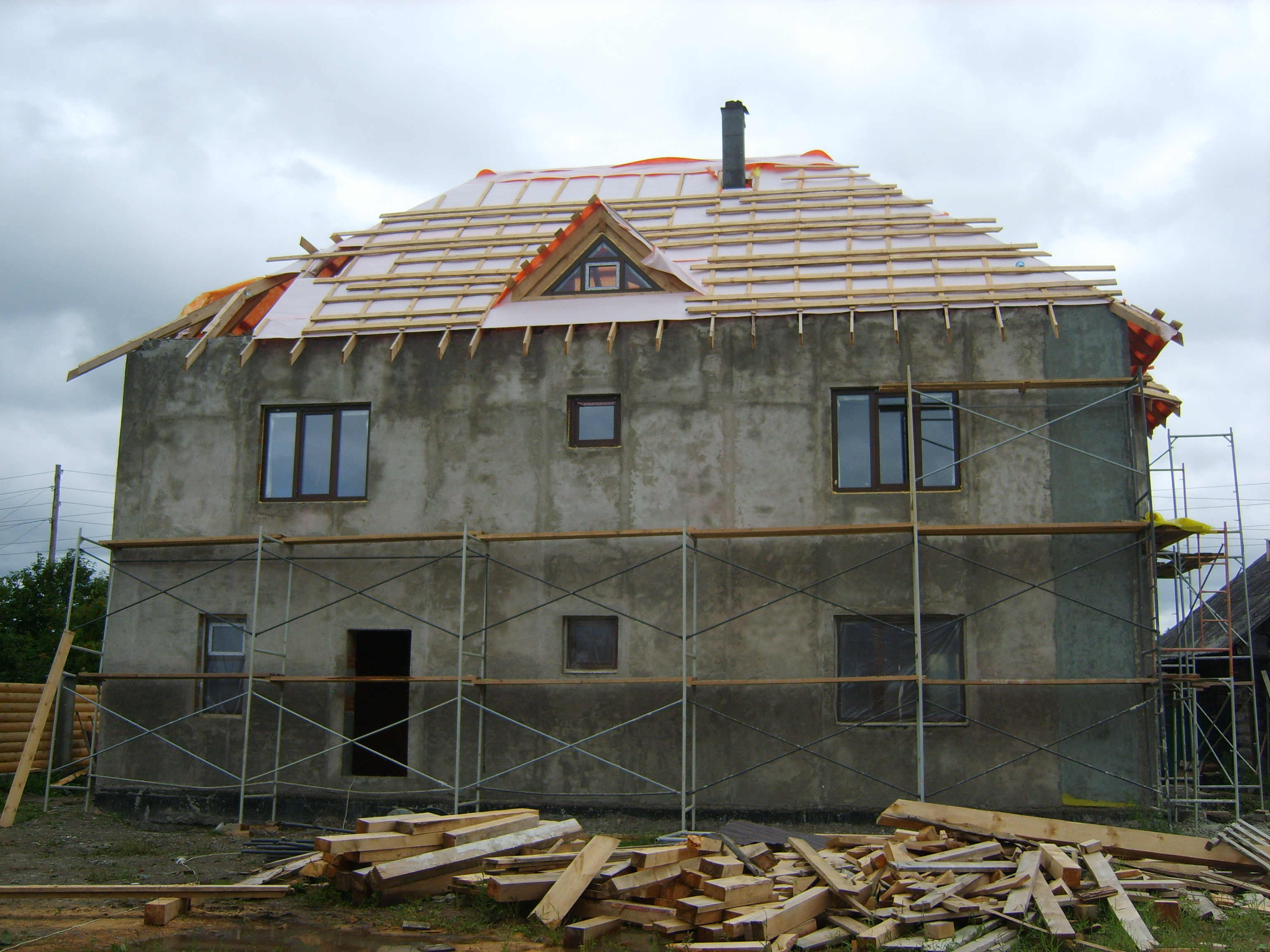 Фото дома из пеноблоков по проекту К-260А
