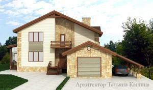Проект дома с гаражом К270