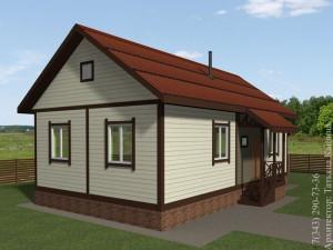 Проект самого дешевого каркасного дома вход в дом