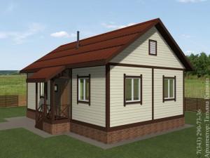 Проект самого дешевого каркасного дома. Одноэтажный каркасный дом.
