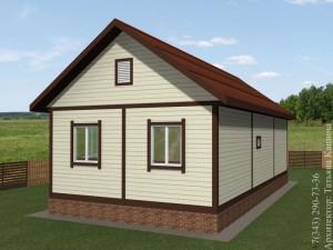Проект самого дешевого каркасного дома вид с участка