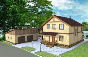 Проект квадратного дома М142