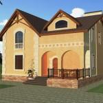Дом со вторым светом Площадь: 174 м2 К-174А