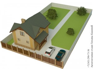 Проект дома из несъемной опалубки 8 на 10 вид на участке