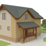 дом для узкого участка