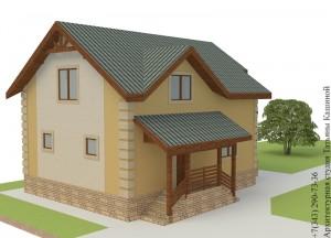 Проект дома 8 на 10 из несъемной опалубки Главный фасад