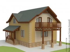 Проект дома из несъемной опалубки 8 на 10