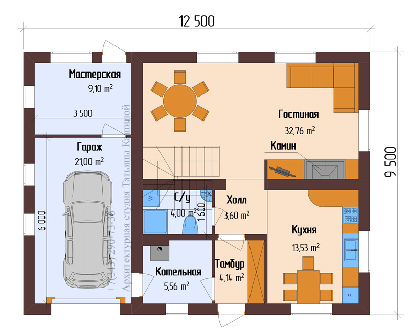 Длина гаража на 1 машину