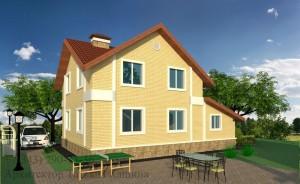 Проект двухэтажного дома И-155 с облицовочным кирпичом