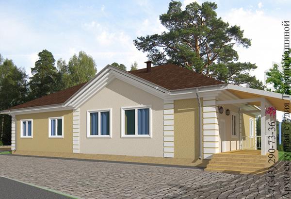 Готовый проект одноэтажного дома С-155