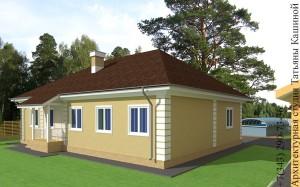 Проект одноэтажного дома С-155 боковой фасад