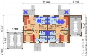 Проект таунхауса. План первого этажа
