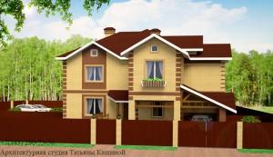 Проект двухквартирного дома с облицовочным кирпичом