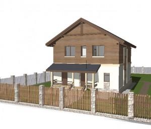 Проект дома М142 с ровным потолком 2 этажа