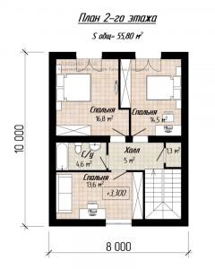 Планировка дома С118