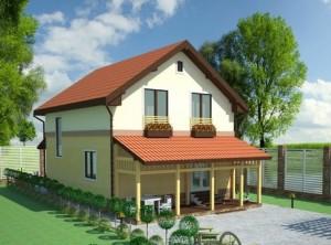 Проект дома С118 фасад