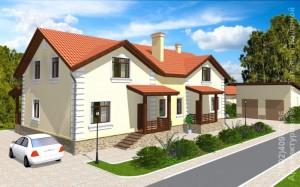 Готовый проект дома на 2 семьи А278