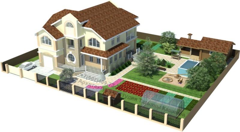 Готовый проект дома М380. Благоустройство участка