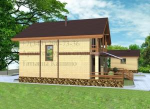 проект дома 10 на 10 боковой фасад