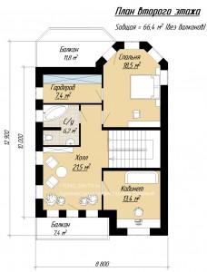 Планировка дома с башней и гаражом. Первый этаж
