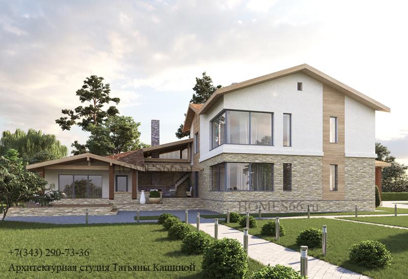 Проект дома в современном стиле. (пос. Алые паруса)