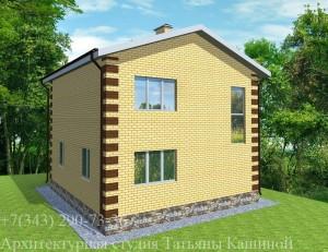 проект дома 9 на 10 вид со двора