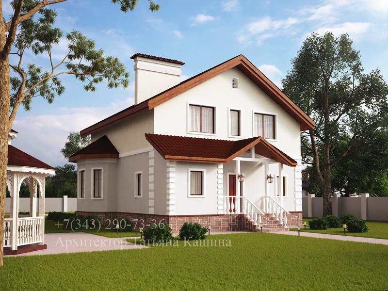 Готовый проект дома двухэтажного дома М152