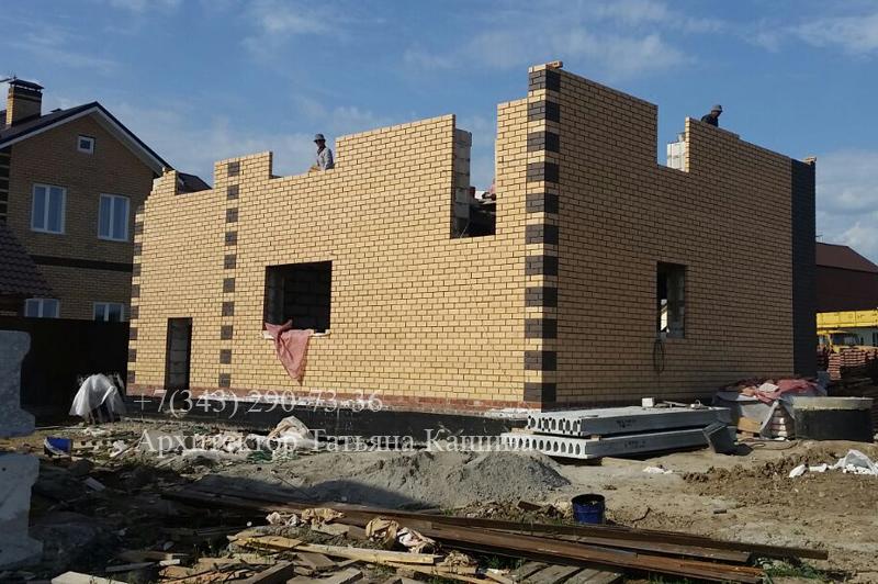 Фотографии строительства дома по проекту Д-110