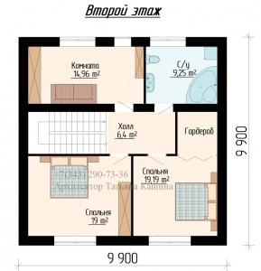планировка дома 10 на 10 с эркером второй этаж