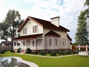 проект дома 10 на 10 М152 вид со стороны участка