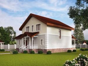 проект дома 10 на 10 М152 вид со стороны улицы
