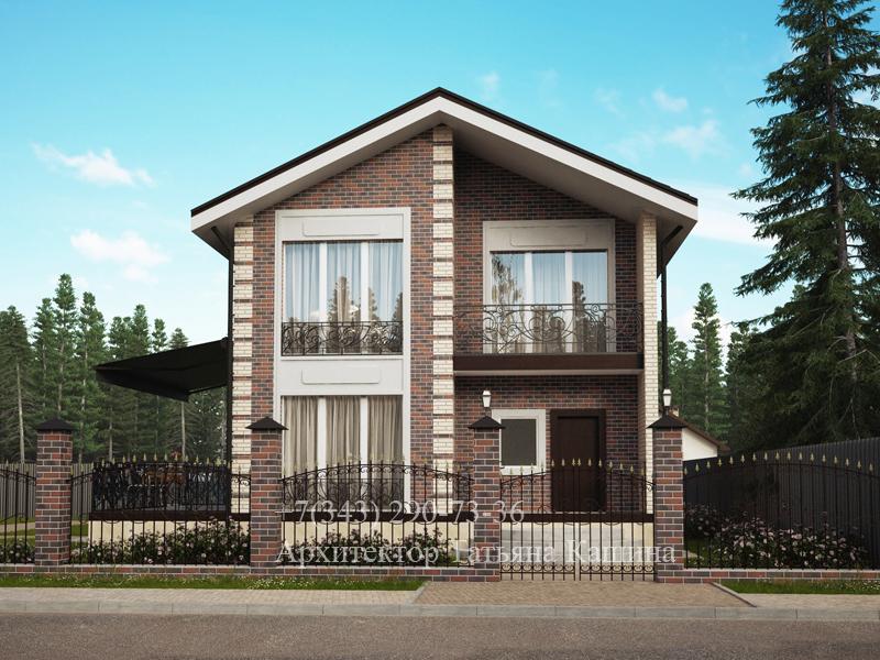 Проект двухэтажного дома Д-110