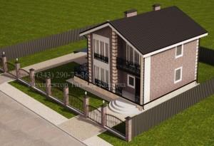 Проект дома 9 на 10 вид на участке