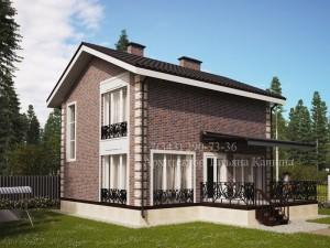 Проект дома 9 на 10 вид со стороны террасы