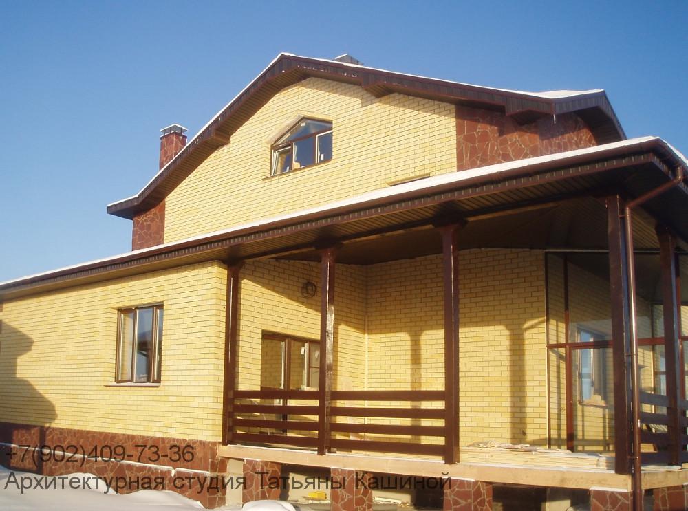 Фото дома построенного по проекту К-270Р в пос. Новая Россоха