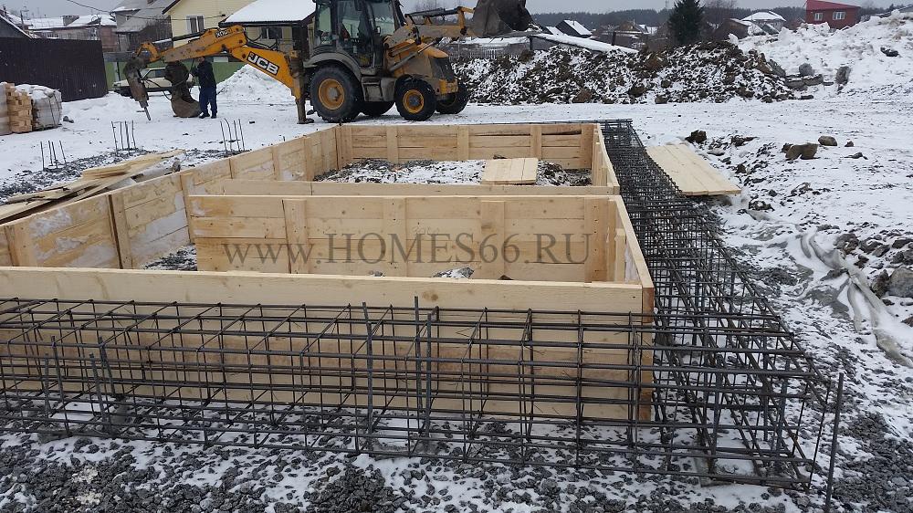 Фотография построенного дома 110 кв.м. армирование фундамента