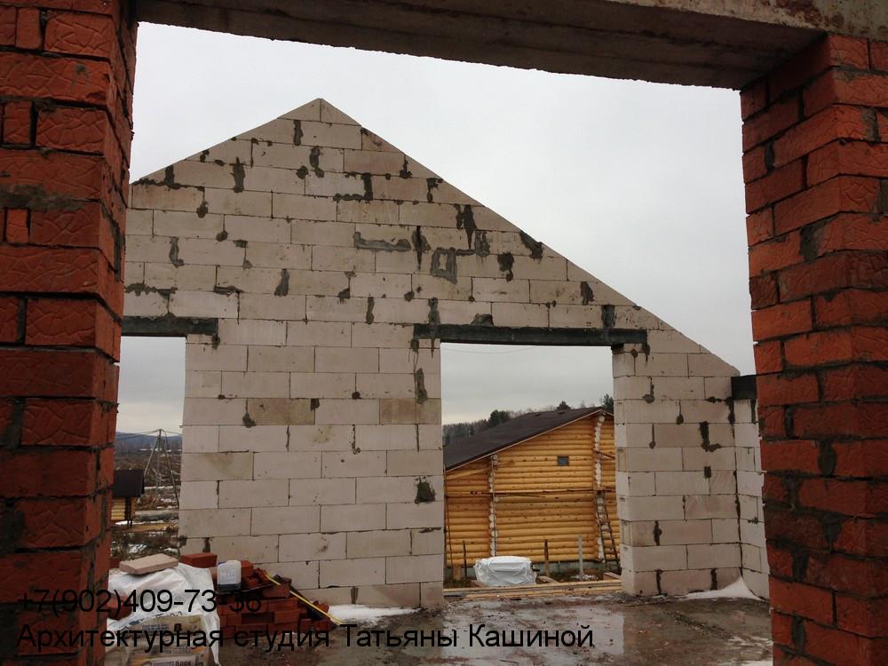 Фотография двухэтажного дома 10 на 10 по проекту М-142 второй этаж