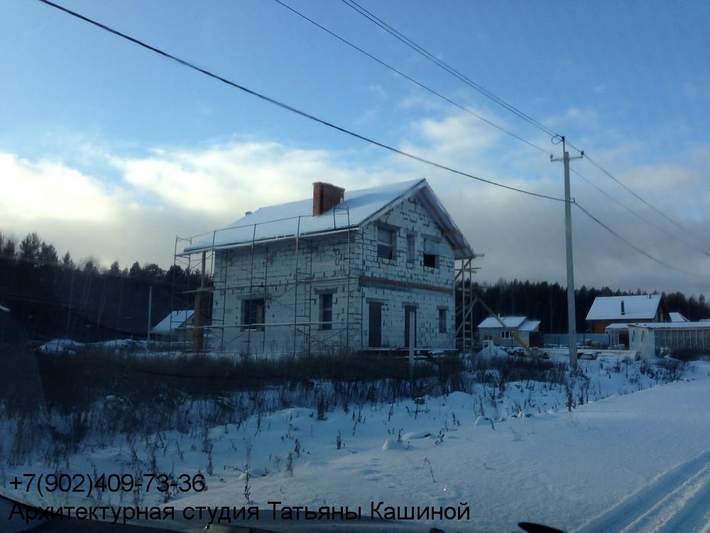Фотография двухэтажного дома 10 на 10 по проекту М-142
