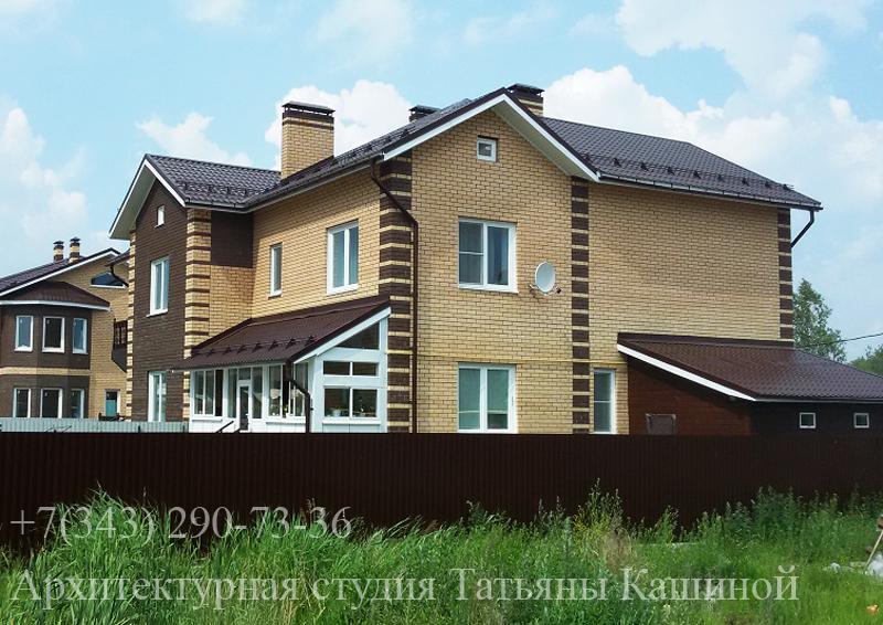 Проект. дома на два хозяина с неравными частями. Фото