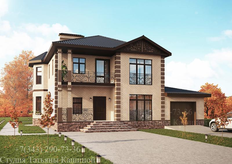 Проект двухэтажного дома М-189 в другом цвете