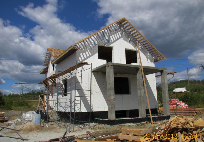 Проект дома 8 на 10 из несъемной опалубки