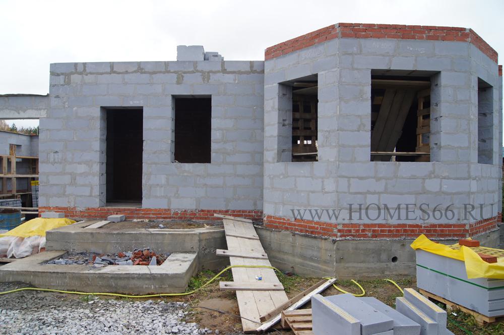 Фото построенного дома по типовому проекту К-200В Дом с эрекром