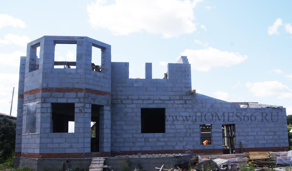 фото дома построенного по типовому проекту К-200В терраса