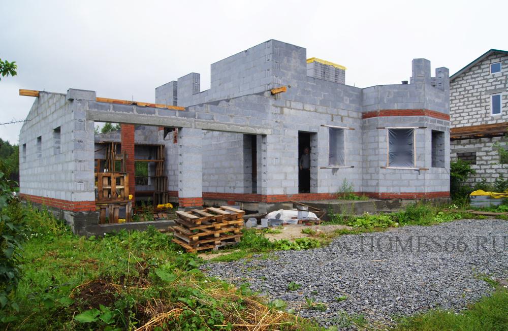 фото дома построенного по типовому проекту К-200В гараж