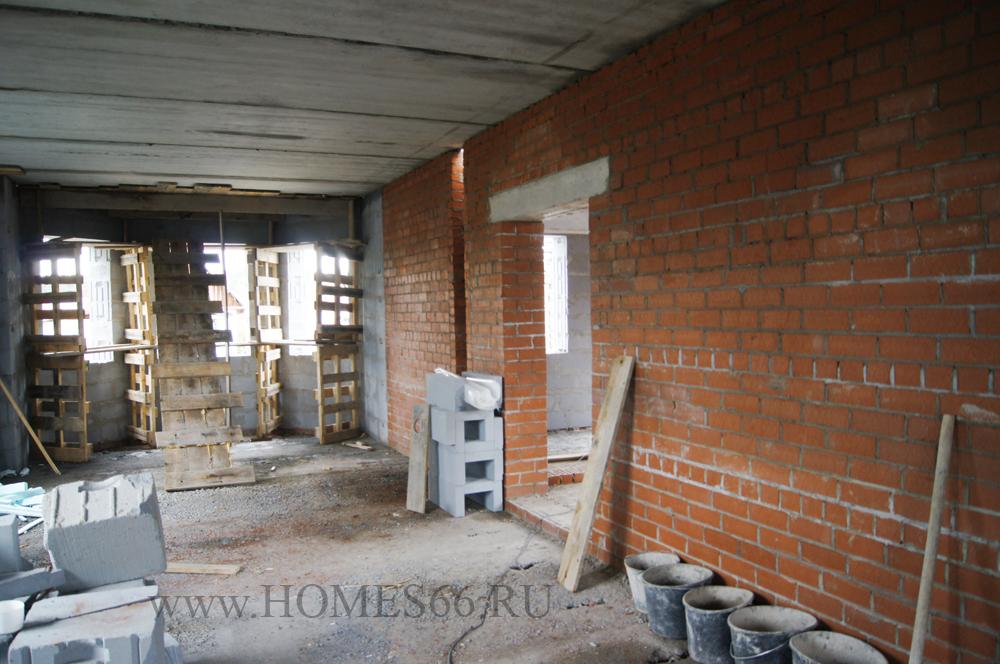 Фотография построенного дома по проекту К-200В гостиная