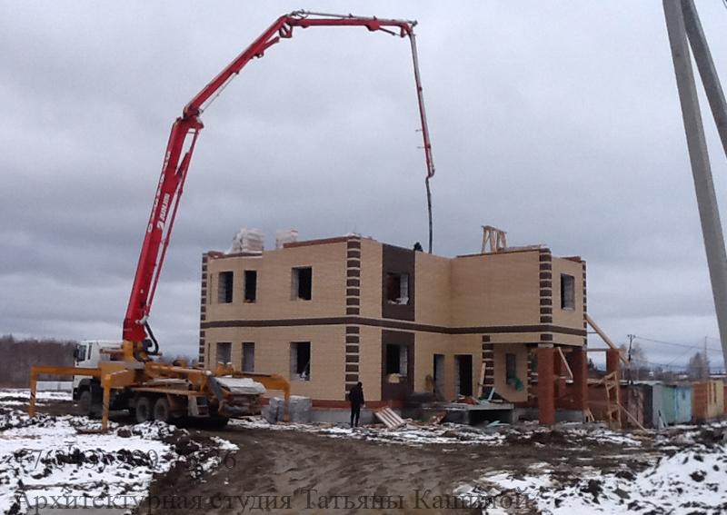 Строительство двухквартирного дома. Апрель 2013